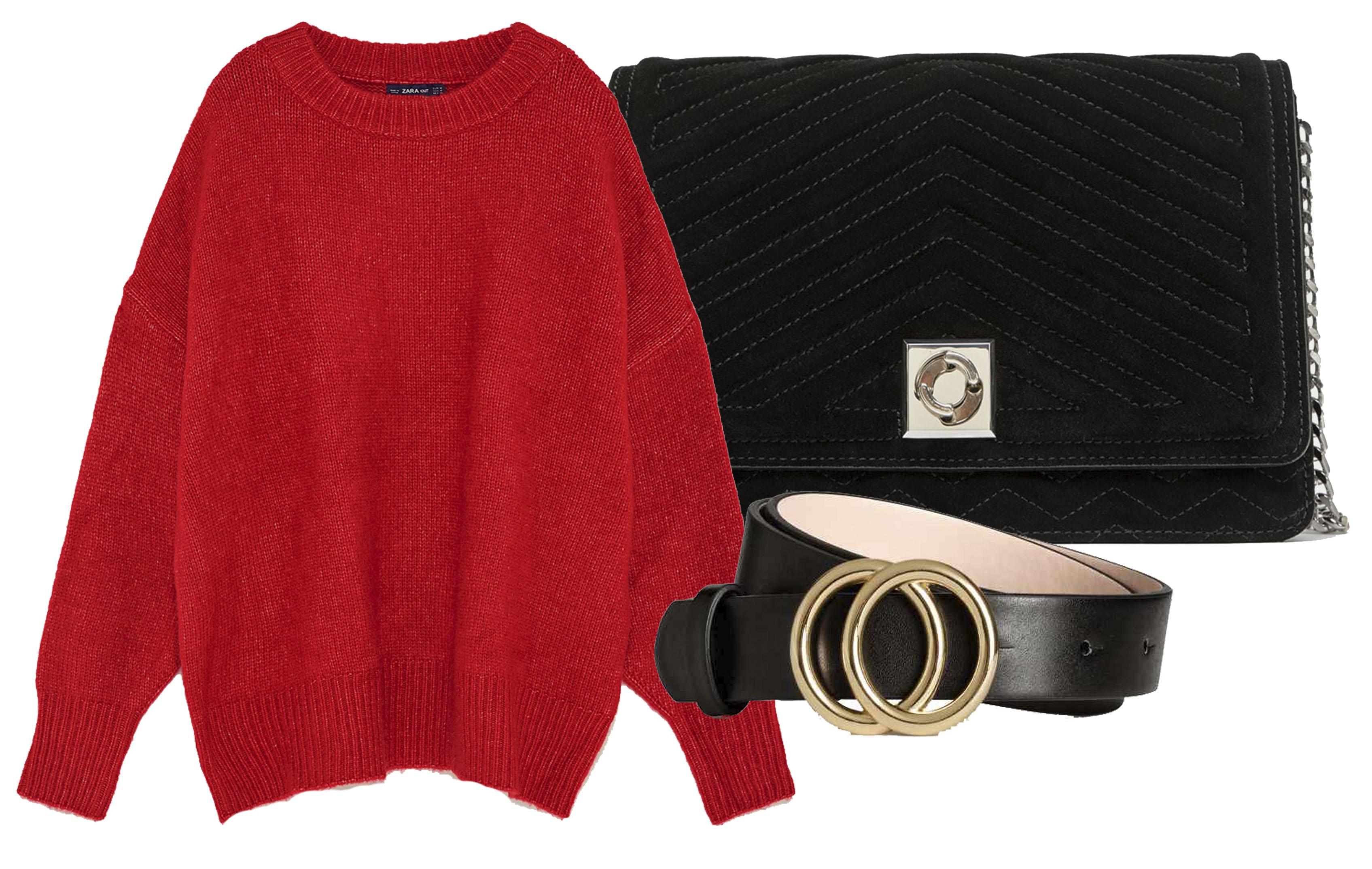 cualquier look con una buena prenda roja, es un look más formal,